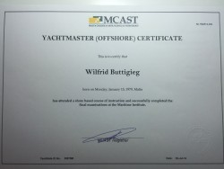 Yachtmaster(Offshore) Certificate