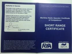 Short Range Certificate