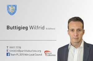 Iklin LC Business Cards Election 15 Wilfrid English Version